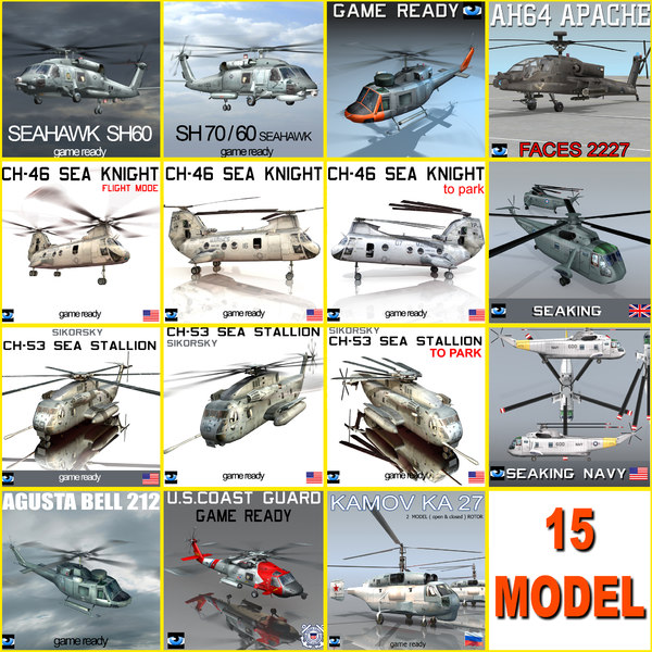 sea king helicopter 3d max