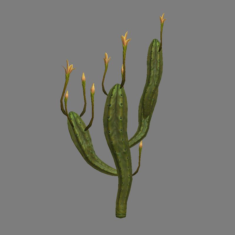 3dsmax giant cactus