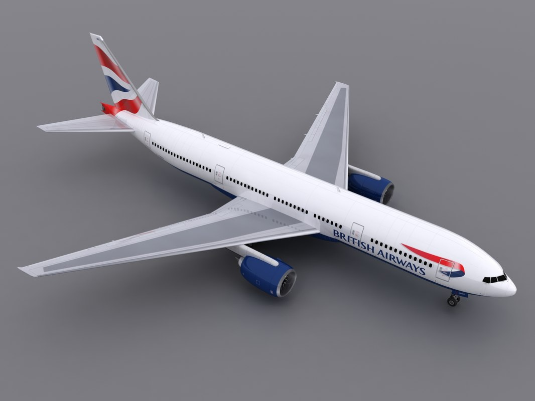 3d model aircraft british airways