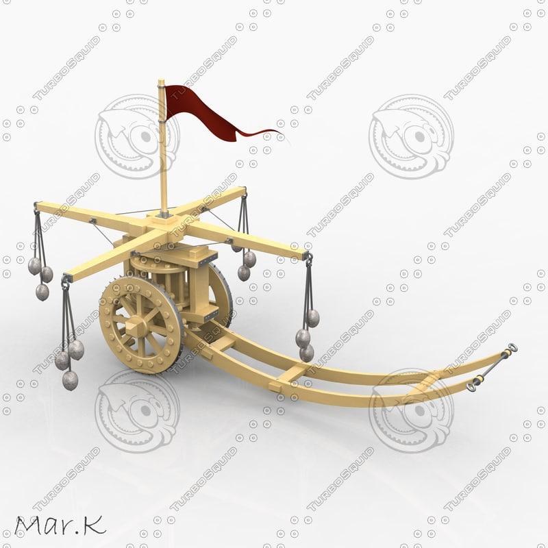 assault chariot hammers 3d model