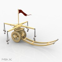assault chariot hammers 3d model