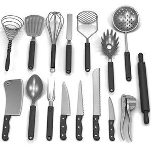 maya set kitchen tools