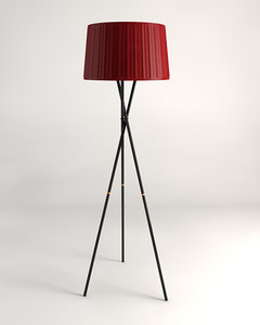 kmp tripod floor lamp 3d 3ds