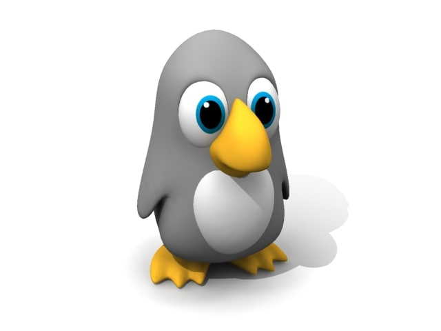 penguin cartoon 3d max