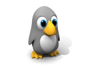 penguin cartoon 3d max