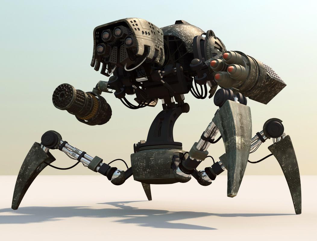 3d robot battle model