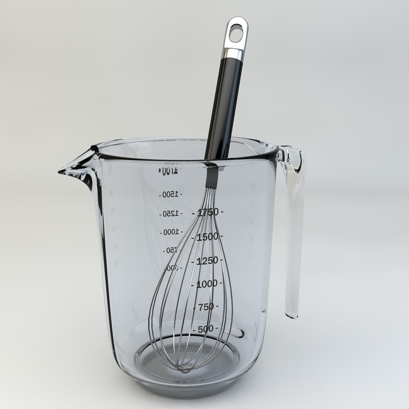 egg whip graduated jug 3d model