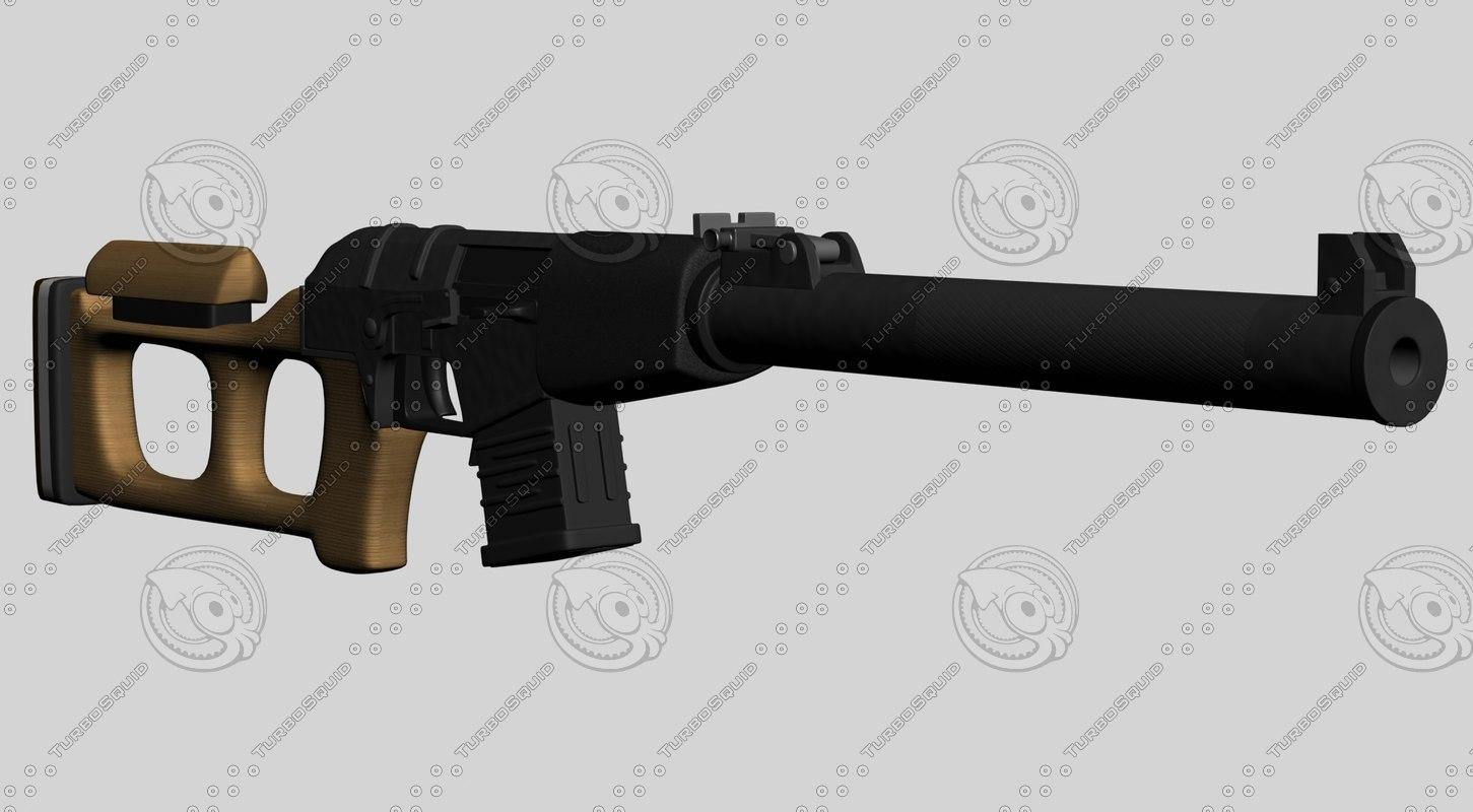 3dsmax assault rifle val