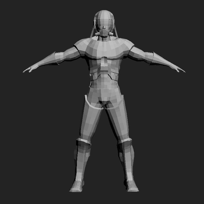 3d model soldier future