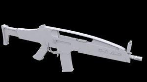 free gun xm8 rifle 3d model