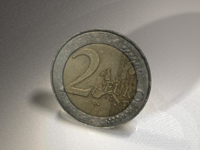 currency euros 3d obj
