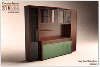 dining room sideboard cabinets 3d model