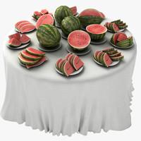 3d food meal model