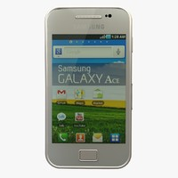 3d silver samsung galaxy ace model