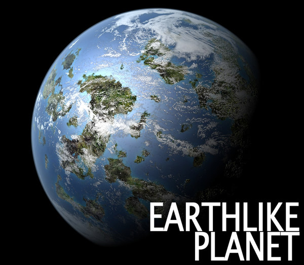 earth-like planet 3d model
