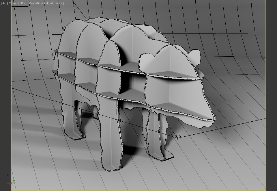 ibride furniture bear 3d model