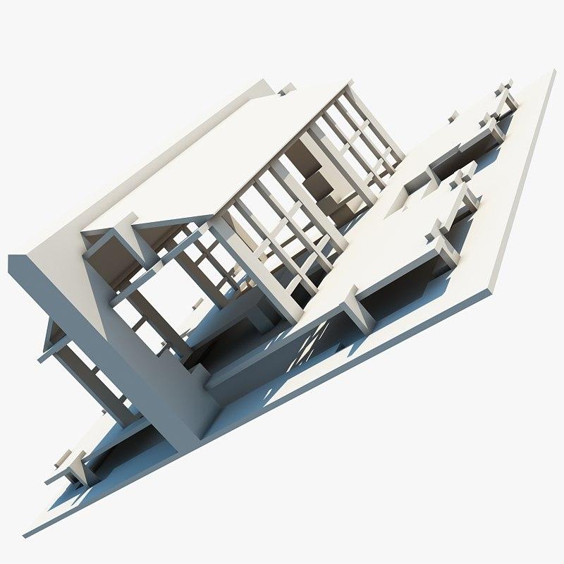 complex structure 3d model