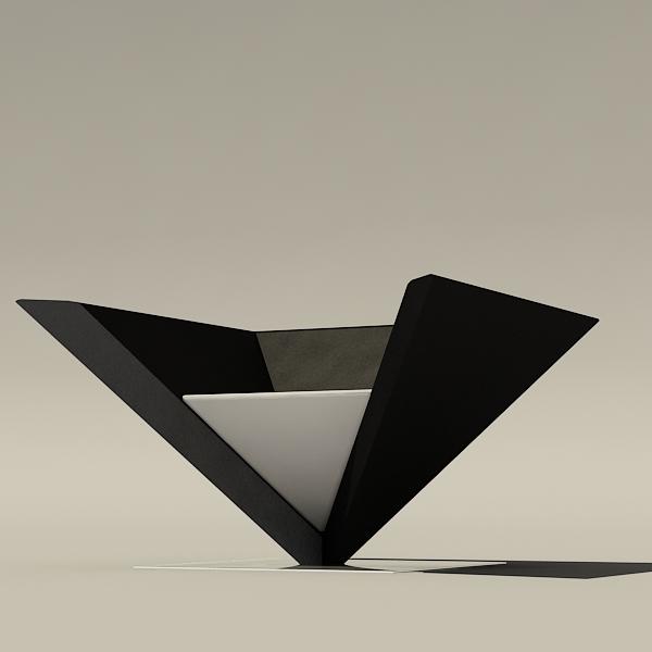 free max model modern pyramid chair