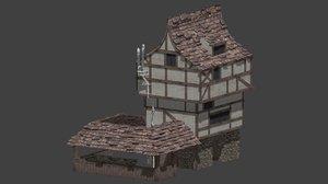 medieval blacksmiths 3d model