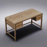 Crate and Barrel - Blake Grey Wash Desk