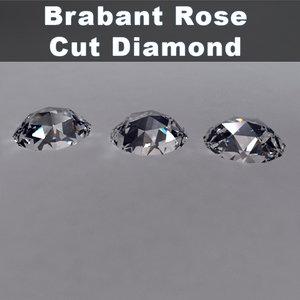 brabant rose cut diamond 3d model