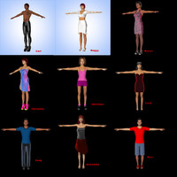 3d model characters male