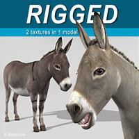 maya rigged donkey