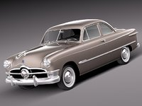 v8 antique coupe 1950 3d model