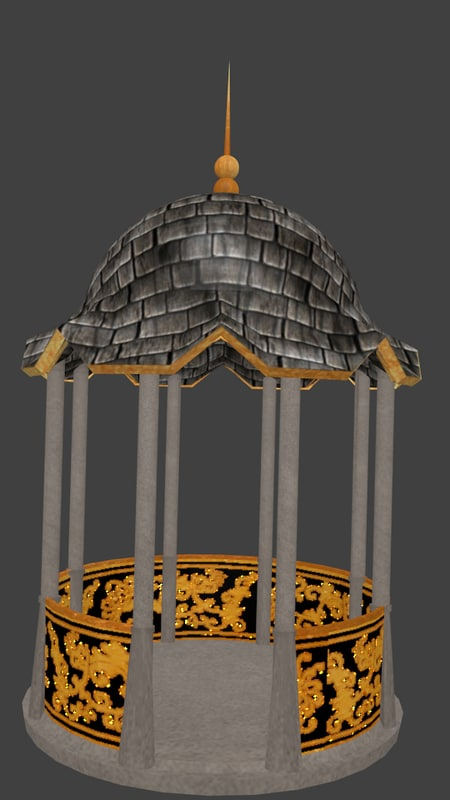 ornate gazebo 3d model