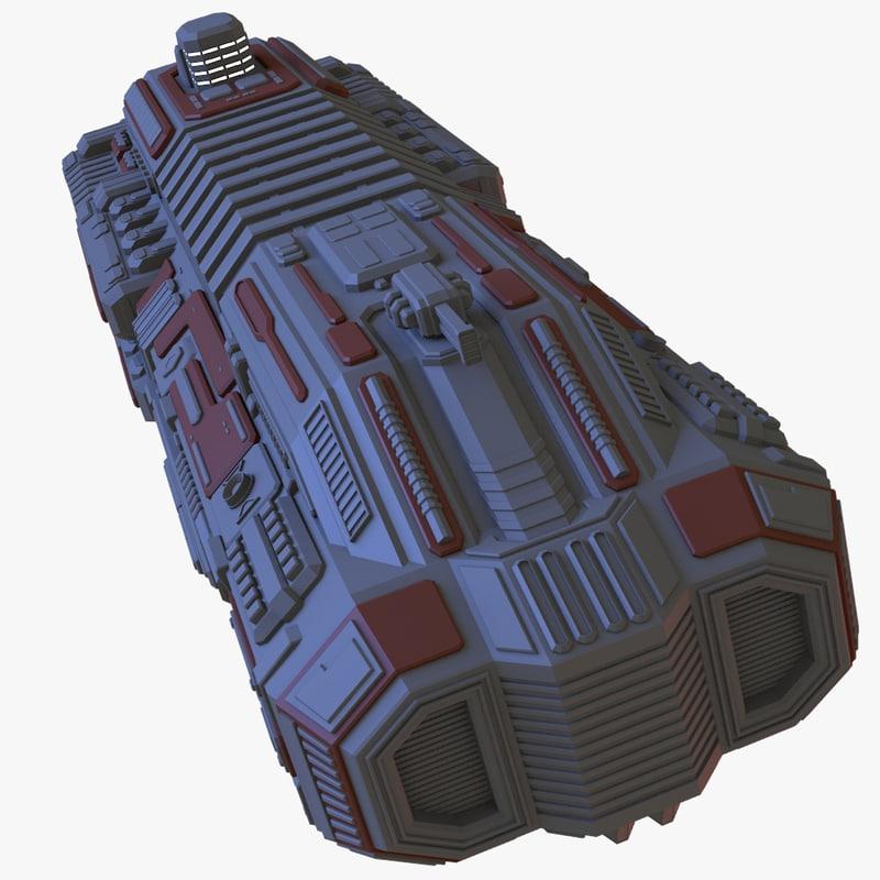 blender heavy cruiser spaceship