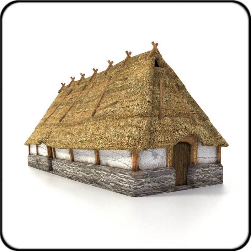 3ds max ready medieval longhouse
