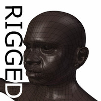 RIGGED Old Black Woman Base Mesh
