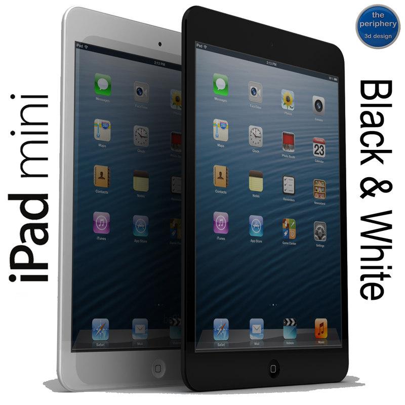 apple ipad mini black 3d dwg