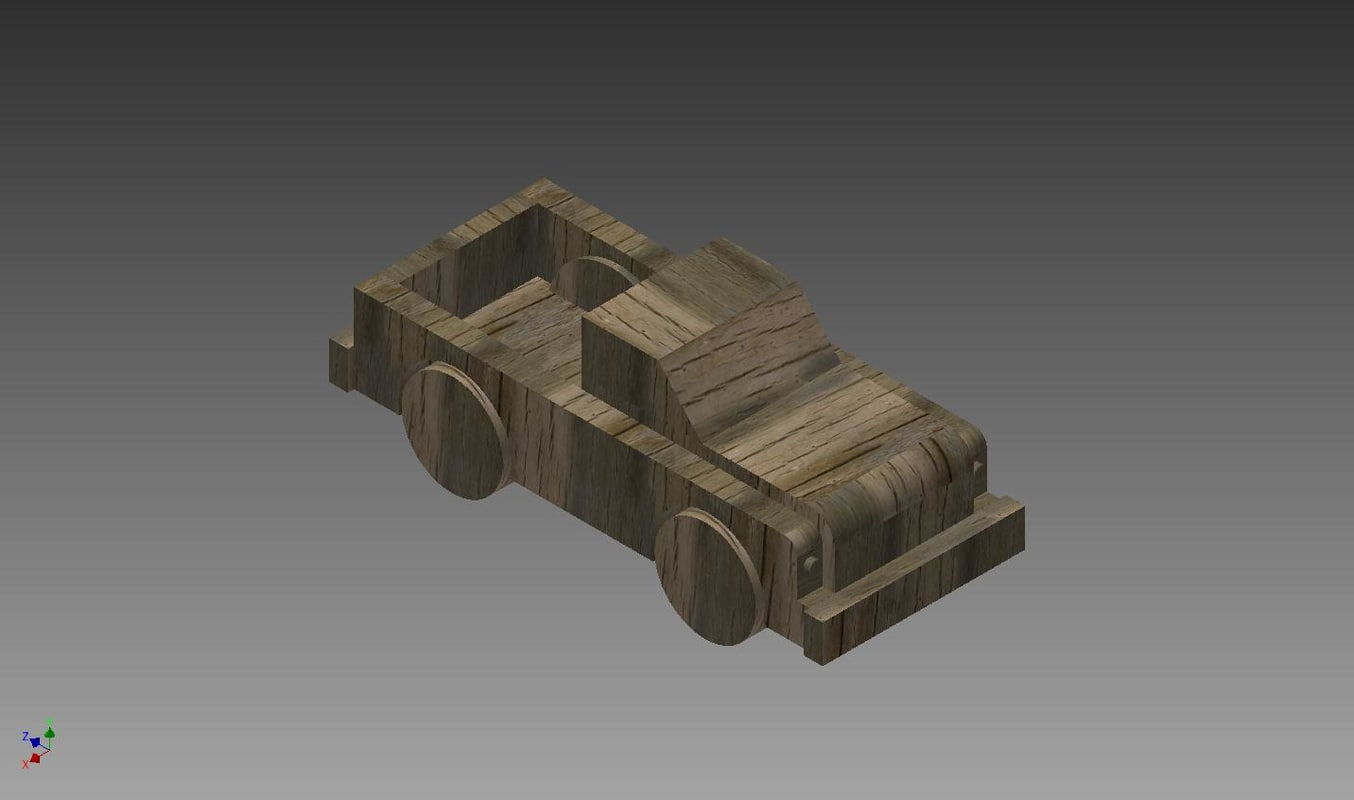3ds wooden toy truck