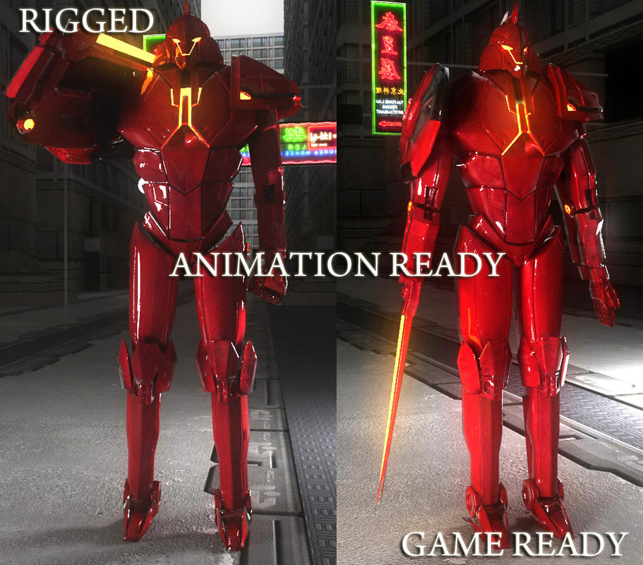 3ds max red mech 2010