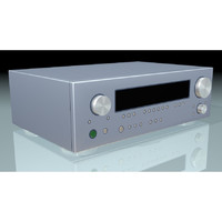 stereo receiver 3d model