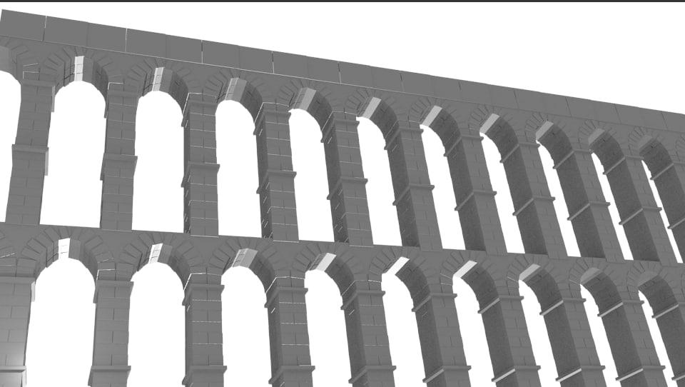 3d water aquaduct model