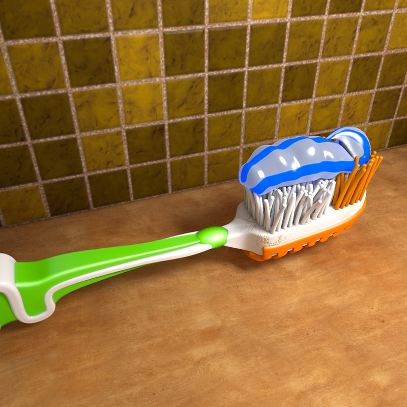 c4d brush tooth toothpaste