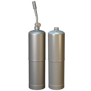 3d model propane torch tank