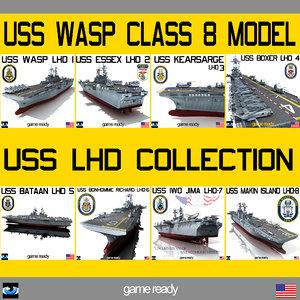 uss wasp lhd 3d max