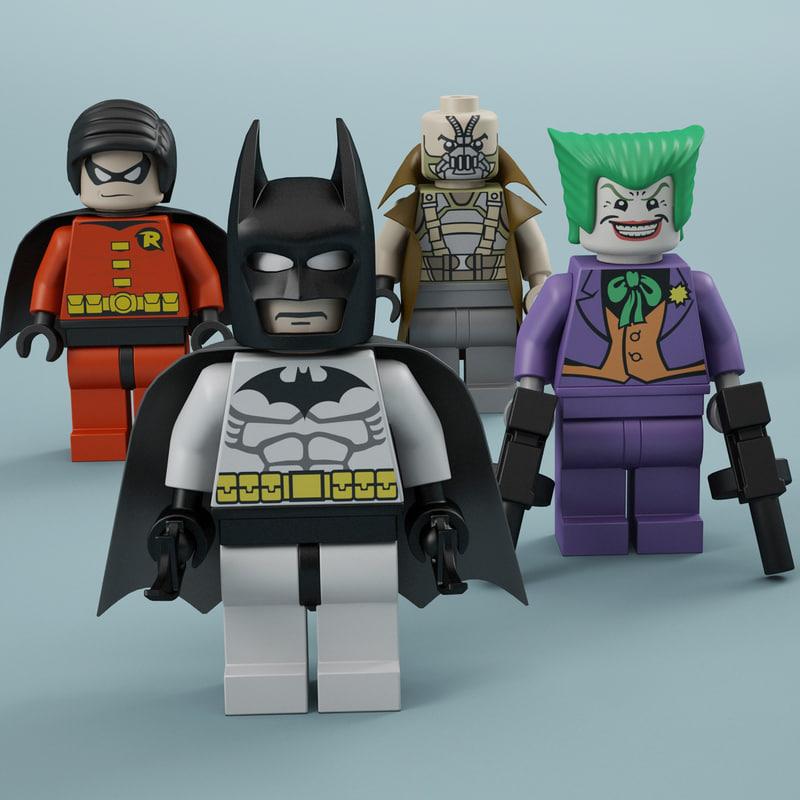 3d lego batman joker