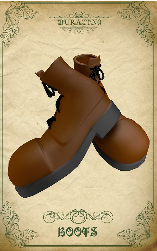 boots buratino 3d model