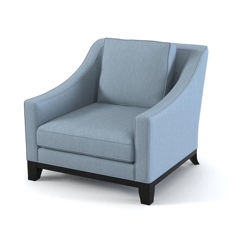 3d model of baker neue chair