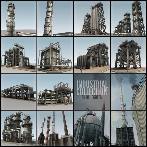 3d model refinery industrial
