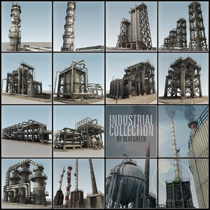 3d model refinery industrial