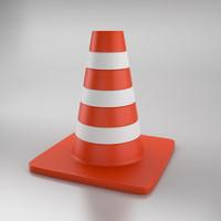3ds max road cone