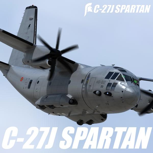 3d model alenia c-27j spartan