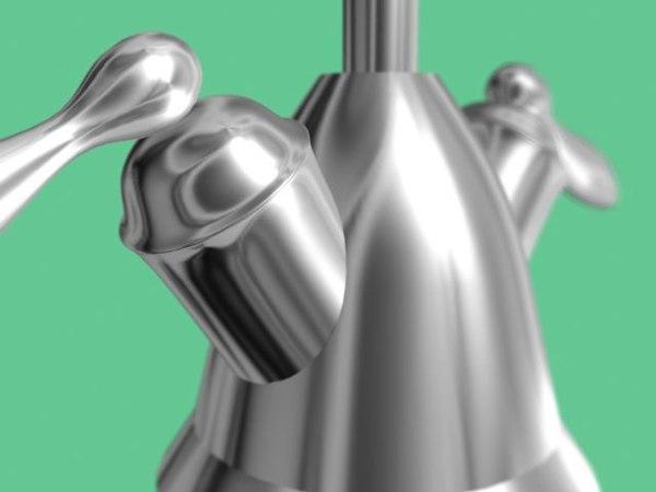 3dsmax kitchen tap water