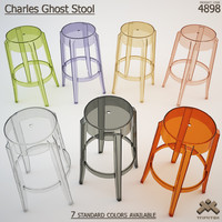 charles ghost stool 3d model