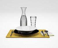 3d model dinner service